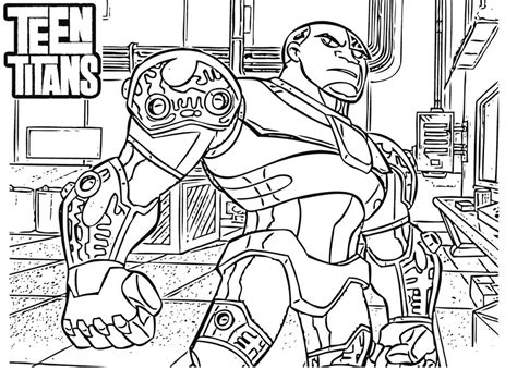 lego cyborg coloring page 15 free printable teen titans coloring pages