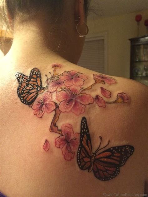 butterfly tattoo cherry blossom 57 best cherry blossom tattoos on back