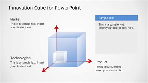 powerpoint cube template strategic innovation cube template for powerpoint slidemodel