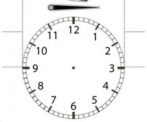 clock templates for telling time telling the time cutout student desktop clock with numbers