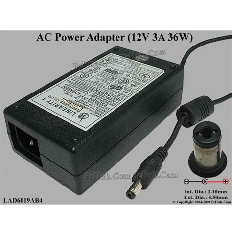 Adaptor 12v 4a adaptor for lcd linearity 12v 4a lad6019ab4 black