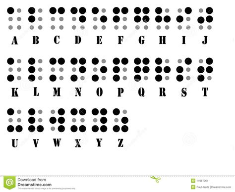 Letter System braille alphabet system stock images image 14967364