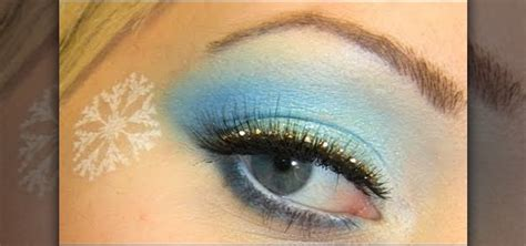 Winter Party Decorations - how to create a sparkly blue snowflake embellished winter eye look 171 makeup