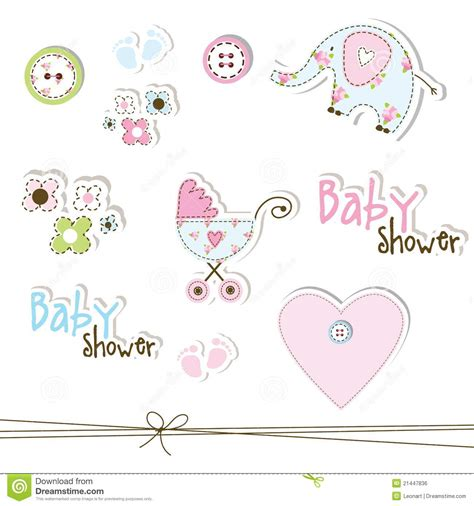 Baby Shower Design Elements Royalty Free Stock Image Baby Designs For