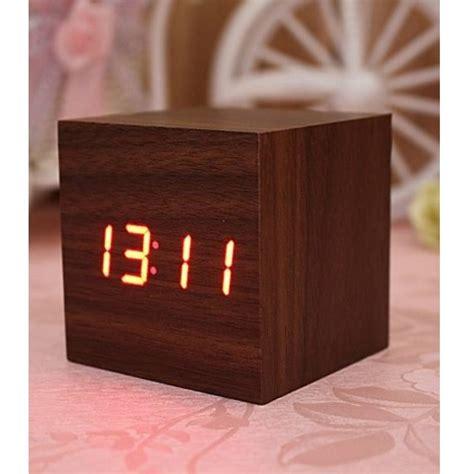 Led Digital Wood Clock Jk 808 Promo jam digital led kayu jk 808 wooden jakartanotebook