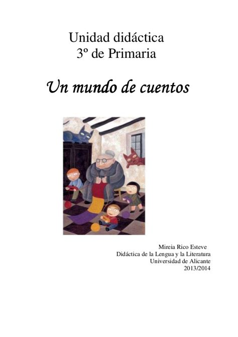 Un Mundo De Cuentos U D 3 186 De Primaria