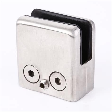 fissaggio mensole set 4x morsetto per vetro fissaggio acciaio inox clip