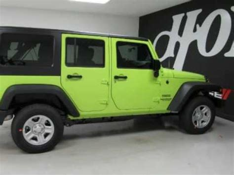 green jeep 2017 2017 jeep wrangler unlimited sport green 4x4 suv for