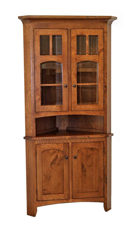Corner Kitchen Hutch Furniture by Biltmore Corner Hutch Dutch Craft Furniture