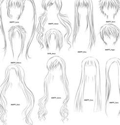 step by step hairstyles to draw anime