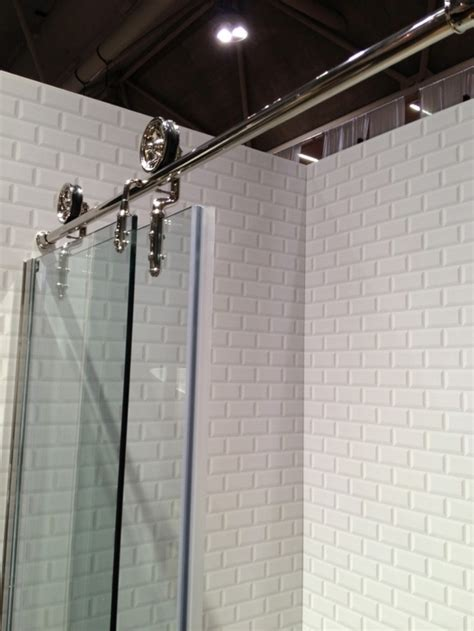 shower barn door on