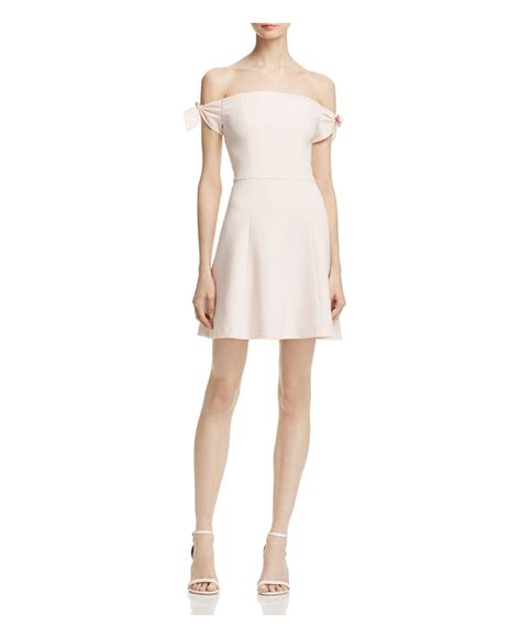 french connection whisper light dress lyst french connection whisper light off the shoulder
