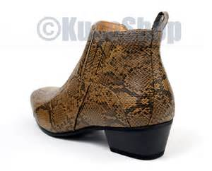 ankle boots shoes italian style snakeskin brown 13