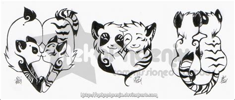 panda tiger tattoo panda panda burning bright by nekophoenix on deviantart