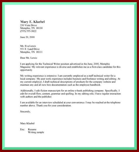 cover letter guideline guidelines for writing a cover letter the letter sle