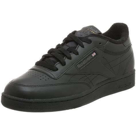 reebok mens club c sneaker in black for black