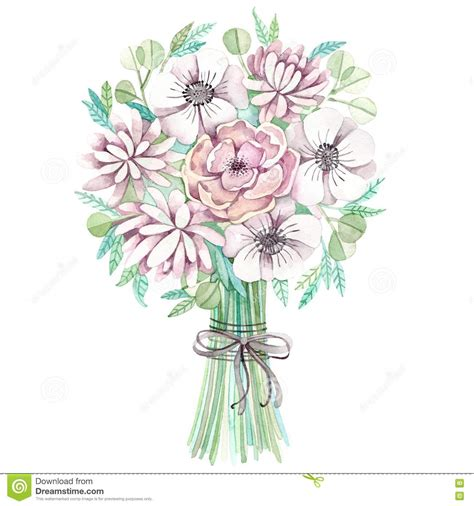 Wedding Bouquet Illustration by Bouquet Wedding Bouquet Pencil And In Color