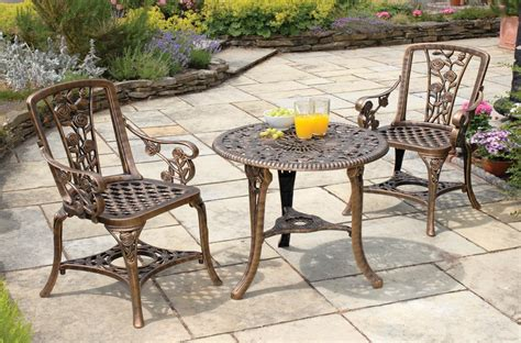 Patio Table And Chair Set 3 Table And Chair Tea For Two Garden Patio Set Westmount Living