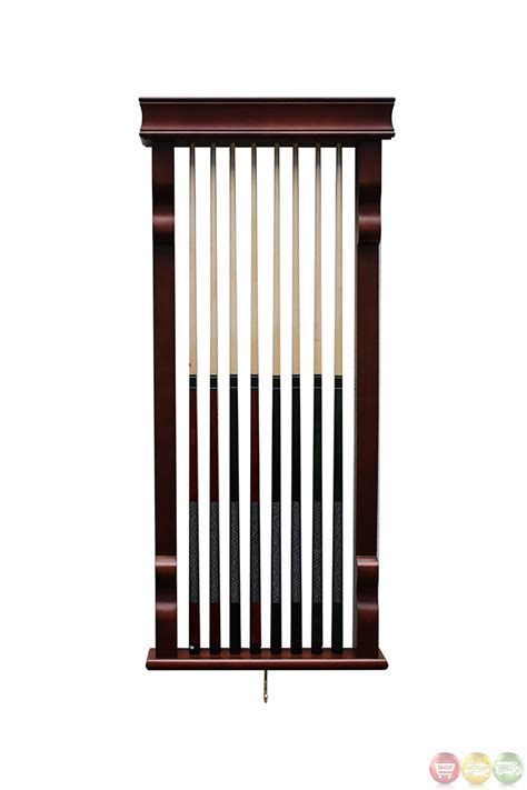 Wall Rack by Pool Tables Mahogony Scratch Resistant Wall Cue Rack