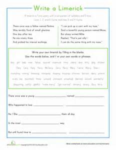How To Write A Limerick Poem Template by Limerick Worksheet Abitlikethis