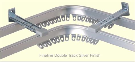 double curtain track system fineline metal curtain tracks