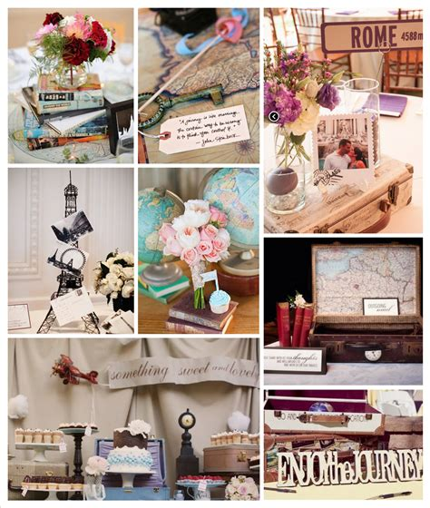 travel bridal shower inspiration board perpetually