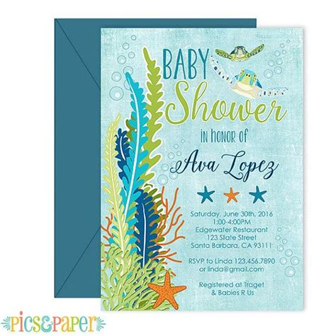 Sea Turtle Baby Shower Invitations by Best 25 Baby Showers Ideas On