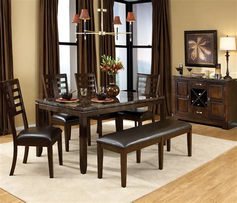 Bench Dining Room Table Set Dining Room Table With Bench Seat Homesfeed