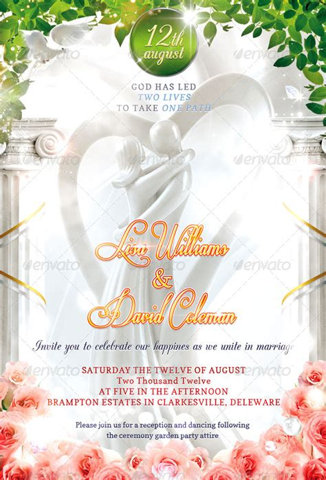 Invitation Letter Psd Wedding Invitation Psd Template By Masterflyer Graphicriver