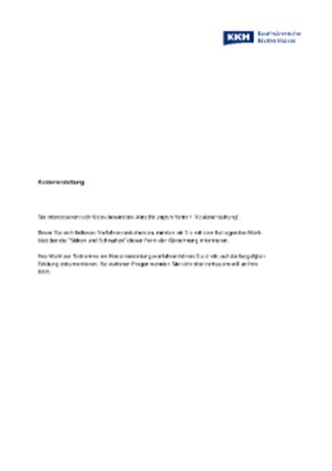 Musterbrief Widerspruch Krankenkasse Kostenübernahme Antr 228 Ge Formulare Kkh Kaufm 228 Nnische Krankenkasse