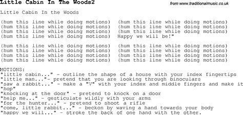 Cabin In The Woods Lyrics by Childrens Songs And Nursery Rhymes Lyrics With Easy