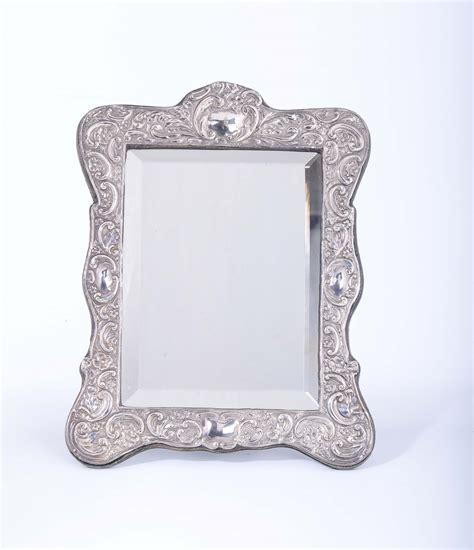 cornici da tavolo specchio da tavolo con cornice in argento chester 1905