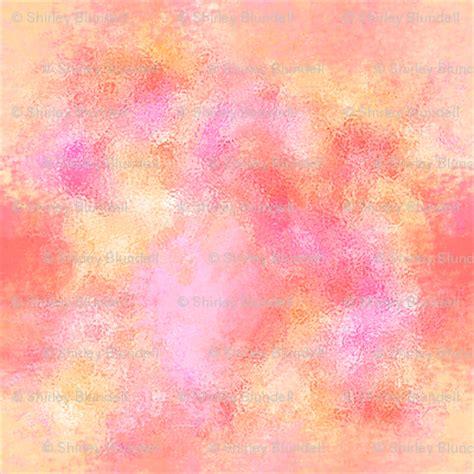 Pink Flower 4in1 watercolor pink orange blender fabric koalalady spoonflower