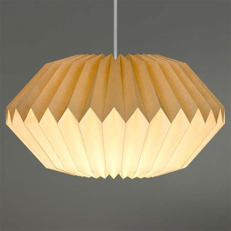 Folded Paper L Shade - paper origami l shade in dove grey by the best room