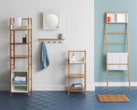 Délicieux etagere echelle salle de bain #1: échelle-salle-bain-bambou-variantes-hauteur-Odin-Habitat-UK.jpg