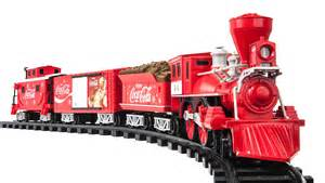 new coca cola train track set electric sound christmas