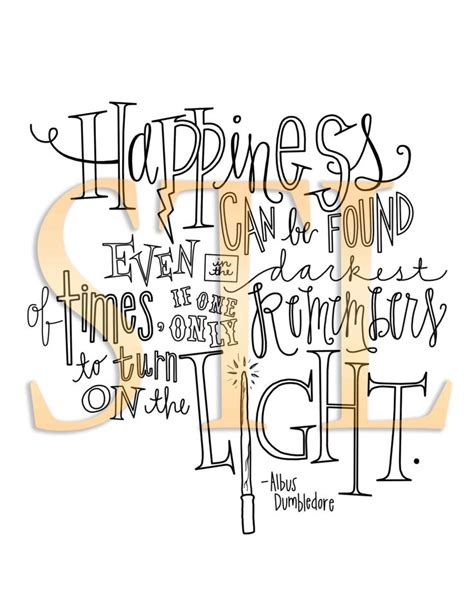 printable dumbledore quotes harry potter albus dumbledore quote print quot happiness can