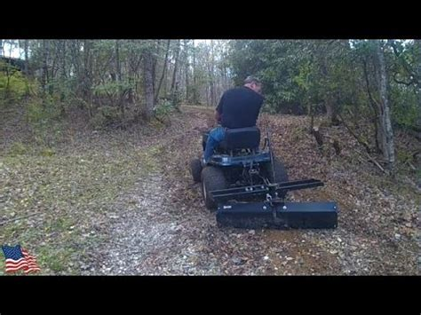put  lawn tractor  work smoothing   gravel
