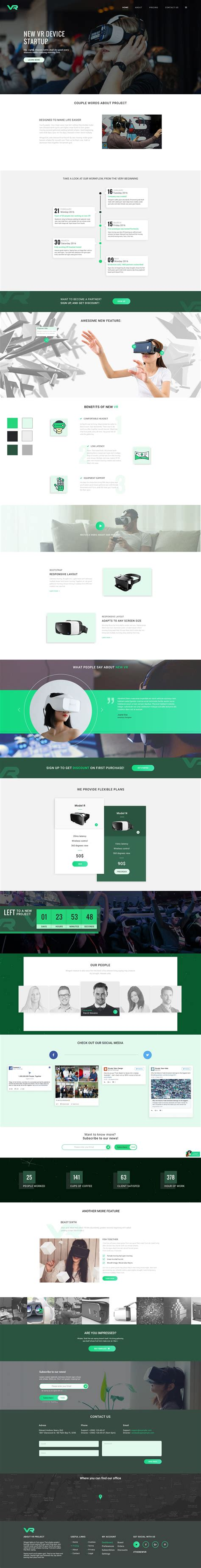 Vr Startup Bootstrap Html Template Html Technology Website Templates Codester Vr Website Template