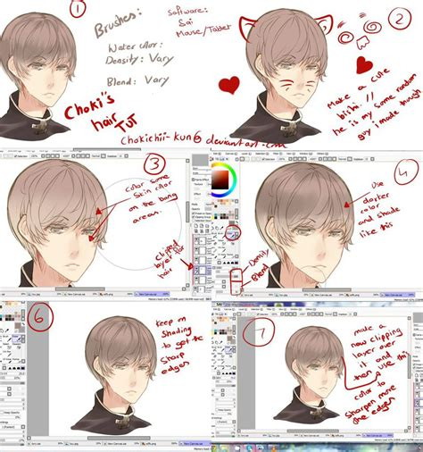 paint tool sai black hair tutorial anime hair tutorial by mano k on deviantart