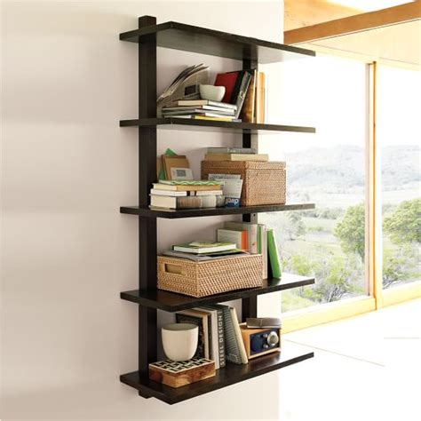 wall mounted bookcase west elm