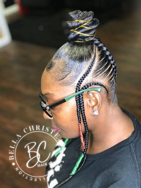 braids bun braids african american braids hair