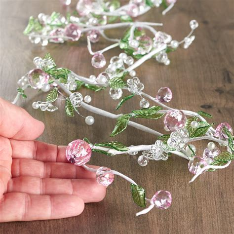 pink and clear acrylic beaded garland garlands floral