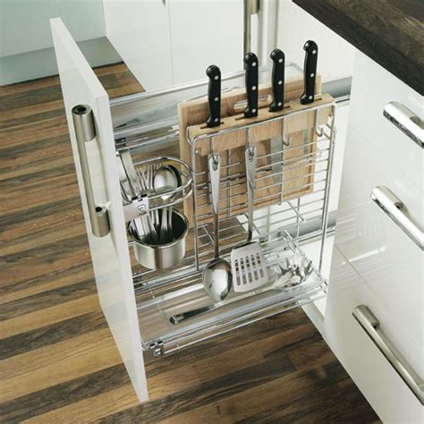 pull out kitchen storage ideas pull out chopping unit from b q kitchen storage 10 of