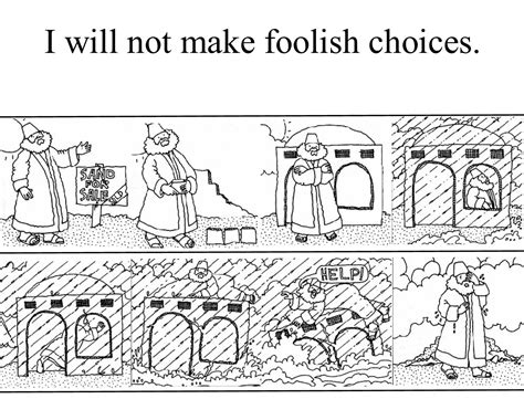 wise man and foolish man coloring page coloring pages