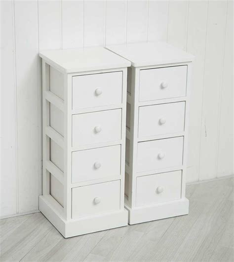 ebay bedside table ls pair of white wooden four drawer cabinets bedside