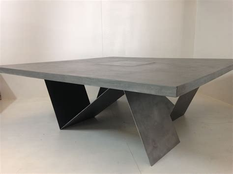 table basse beton cire fabrication de meubles en beton sur mesure