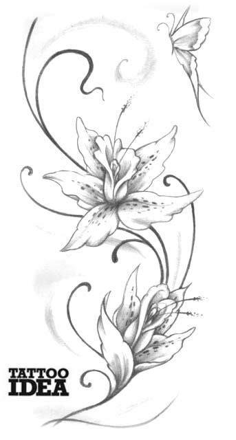 tatuaggi tribali con fiori e farfalle tatuaggi floreali tatuaggi fiori foto di disegni con fiori