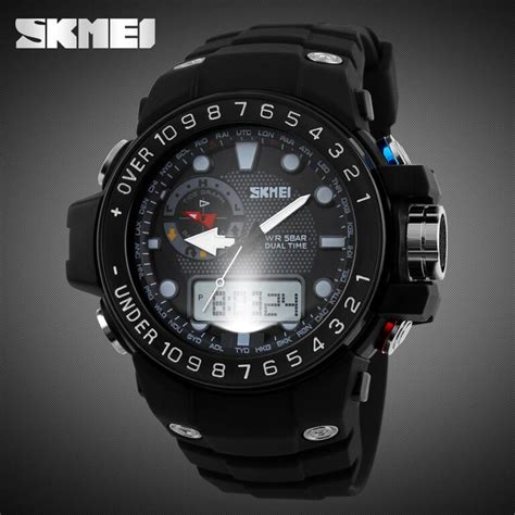 Promo Skmei Casio Sport Led Water Resistant 50m Ad1117 skmei casio sport led water resistant 50m ad1063 golden jakartanotebook