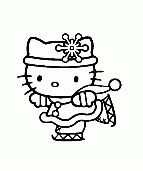 imagenes de hello kitty invierno dibujo para colorear hello kitty patinando sobre hielo